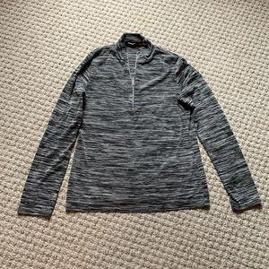 Missguided Half Zip Long Sleeved Top